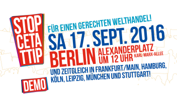 17.9.16 TTIP Demo Berlin Alexanderplatz