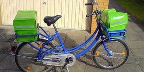 Zustellfahrrad der PIN Mail Hannover GmbH, August 2007
