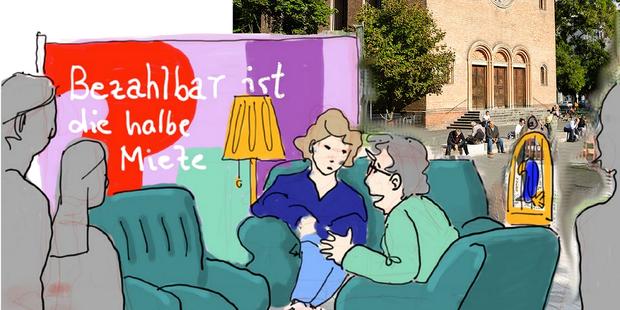 Talk auf dem Leopoldplatz