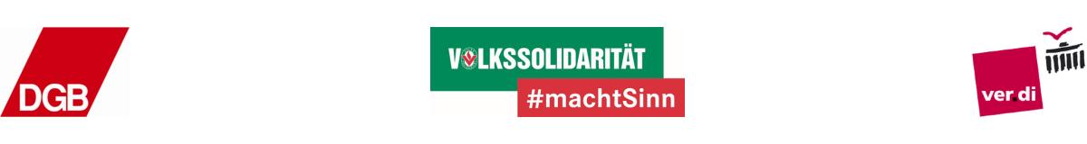 DGB, Volkssolidarität, ver.di