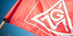 Flagge der IG Metall
