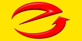 Logo Fachverband Elektrotechnische Handwerke (e-Blitz rot auf gelb)