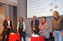 Jens Korsten (IG BAU), Anne Zetsche (Schule in Not), Heiko Glawe (DGB), Doreen Siebernik (GEW), Erich Mendroch (ver.di)